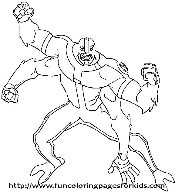 Free Ben 10 Coloring Ben10 Pages My Picture