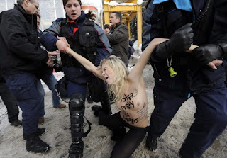 Davos Topless Protesters