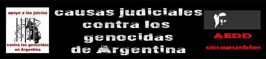 Causas Judiciales contra los genocidas de Argentina