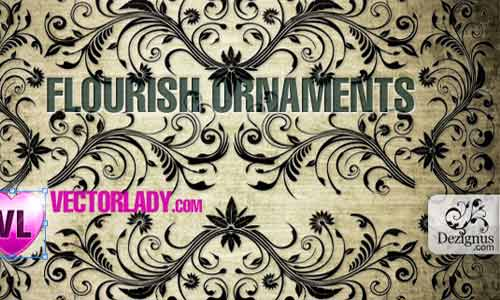 Flourish ornaments Vector