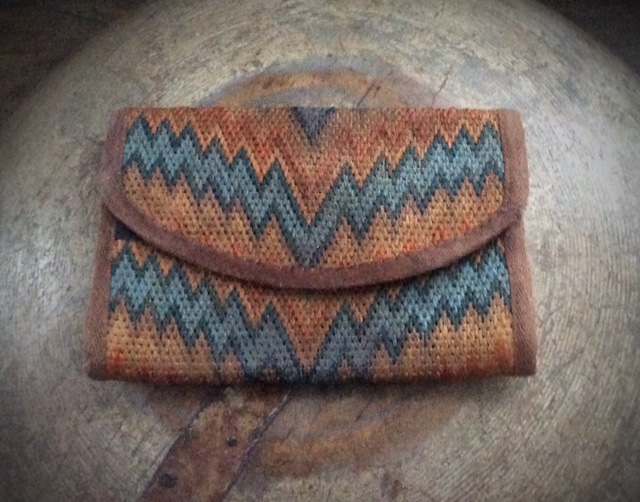 CUSTOM ORDER - REPRODUCTION FLAME STITCH WALLET