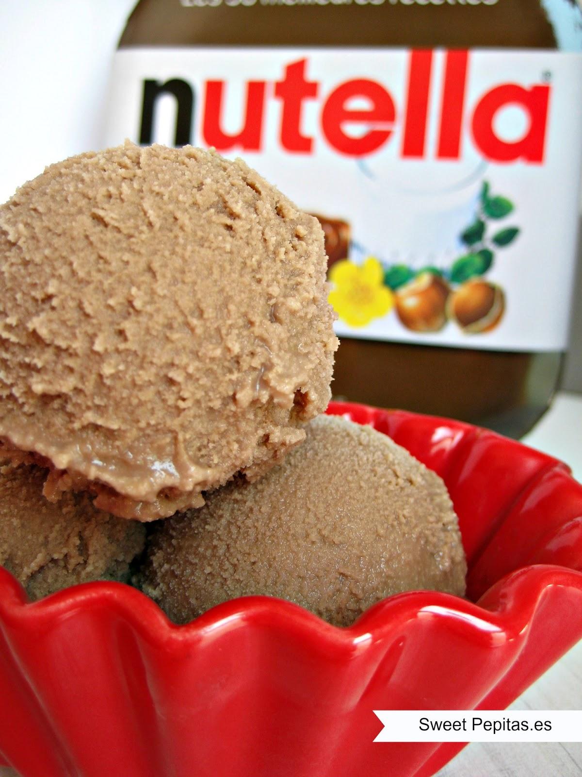 helado casero nutella