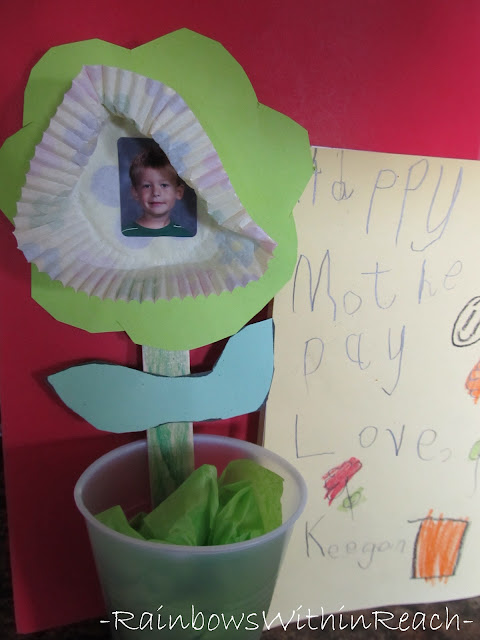 Mother's Day flower project, Mother's Day craft for children