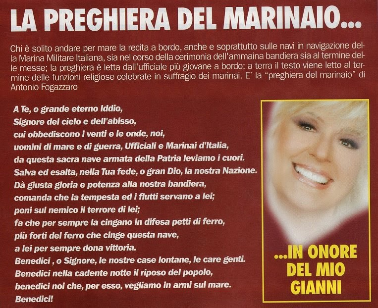 LA  PREGHIERA  DEL  MARINAIO