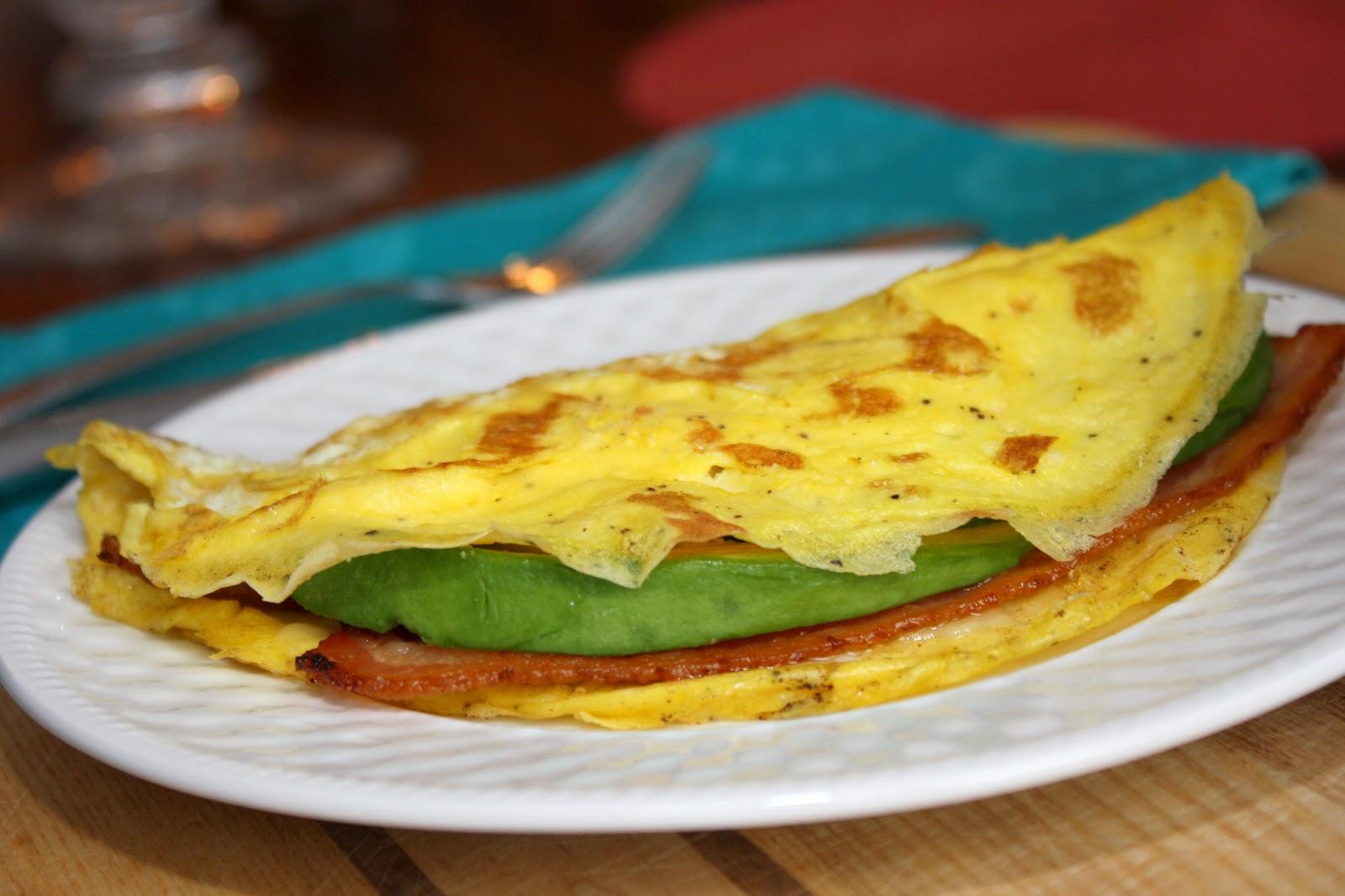 The Bitchin' Kitchin': Bacon Avocado Omelette