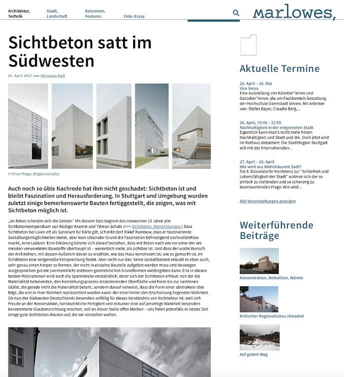 Bericht HFT Stuttgart auf Marlowes
