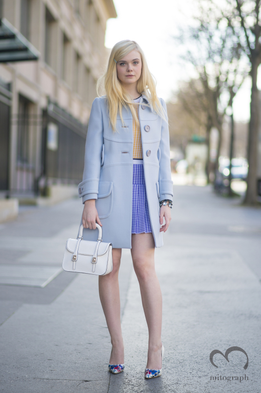 Actress Elle Fanning attends to Chloe show during Paris Fashion Week 2014 Fall Winter PFW