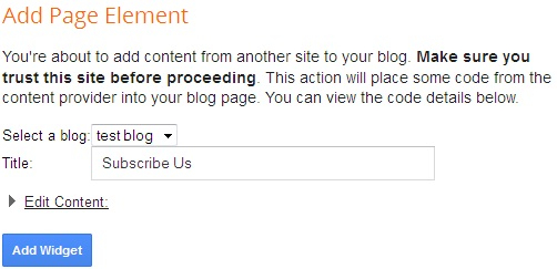add page element in blogger