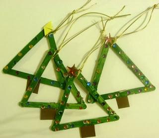 Decoracion de Navidad con Palos de Helado Reciclados