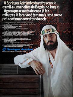 propaganda ar condicionado Spring Admiral - 1976. década de 70. os anos 70; propaganda na década de 70; Brazil in the 70s, história anos 70. Oswaldo Hernandez;
