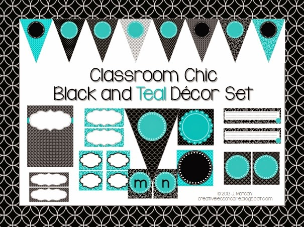 Teal Classroom Decor ~ Creative lesson cafe summer lovin sale classroom decor sets