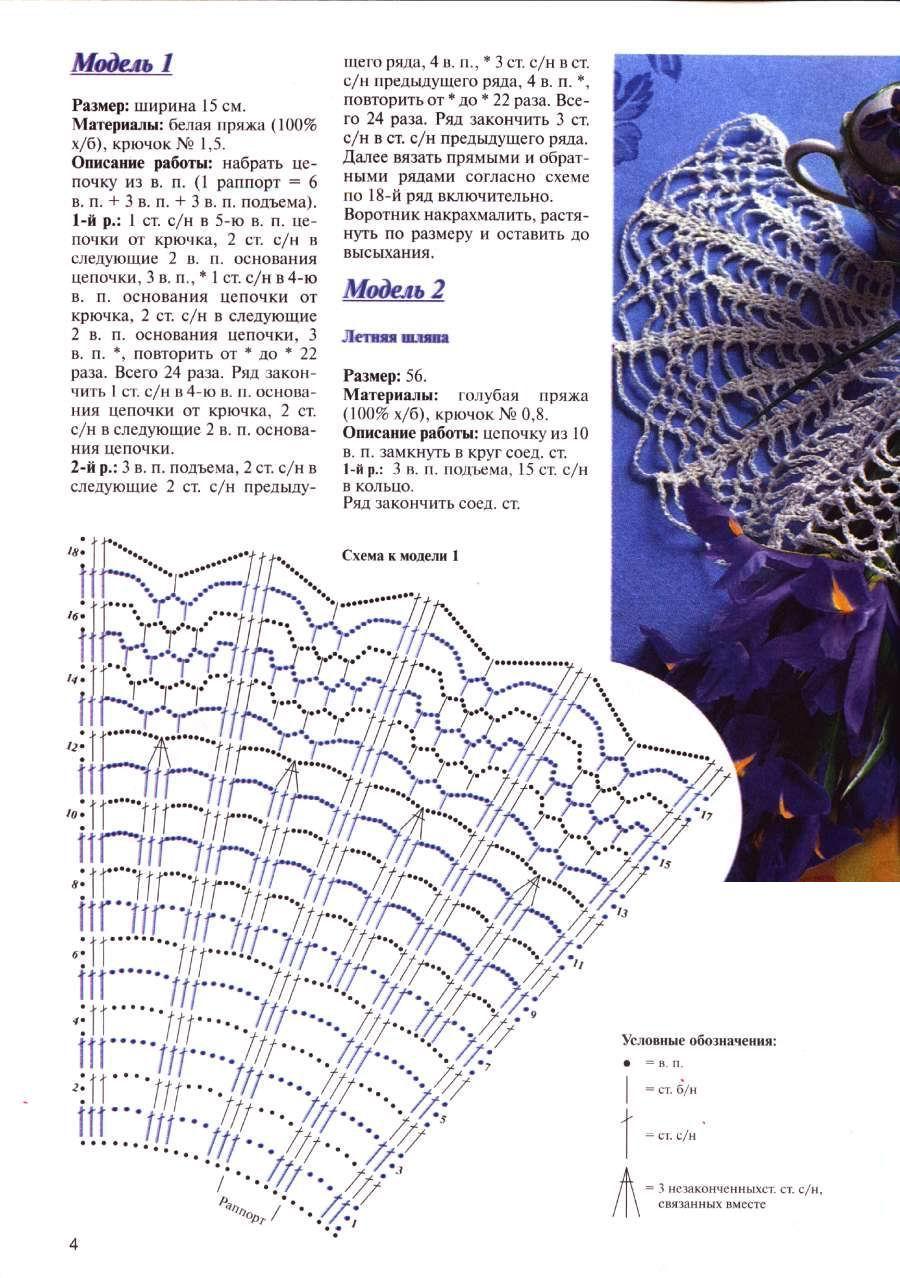 Журнал вязание воротничков крючком схемы и описание