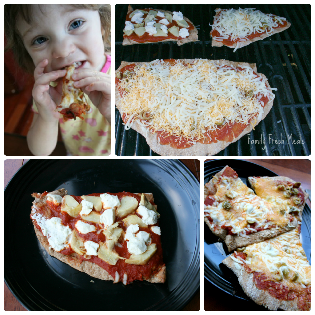 How to Make Whole Wheat Grilled Pizza - Family Fresh Meals