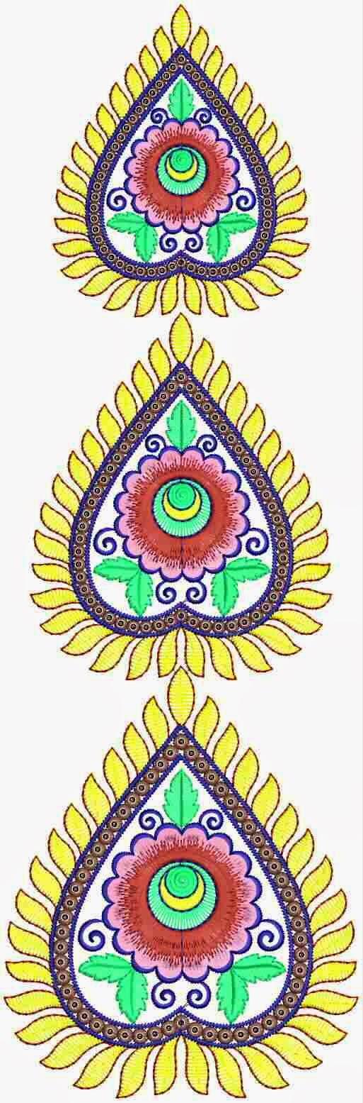 'N kleurvolle hart borduurwerk ontwerp appliekwerk
