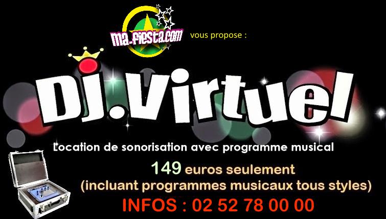 www.dj-virtuel.com : location de sonorisation avec programme musical