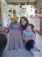 Mummy, Jedidiah and Mrs T. Bear with PJ Bear July  2011