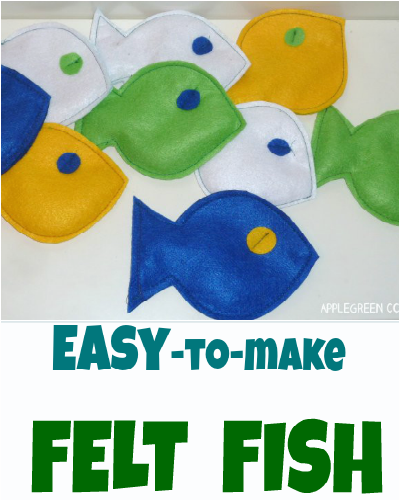 how to make felt fish with corn stuffing