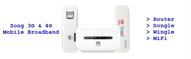 Zong Router Wingle Dongle and MiFi
