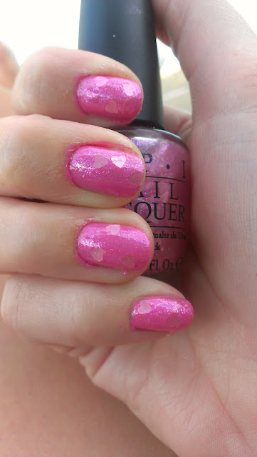 OPI Nothin' Mousie 'bout it, OPI polish, polish swatch, MUA polish, MUS 279 bright pink swatch