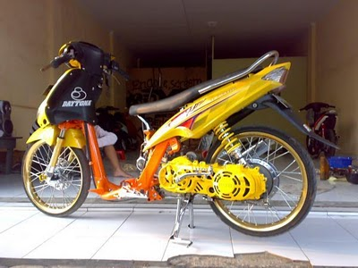 Modif Yamaha Crypton Drag