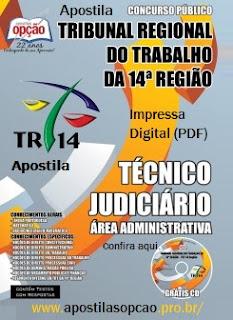 Apostila TRT da 4ª Região 2015 (GRÁTIS CD) Técnico Judiciário.