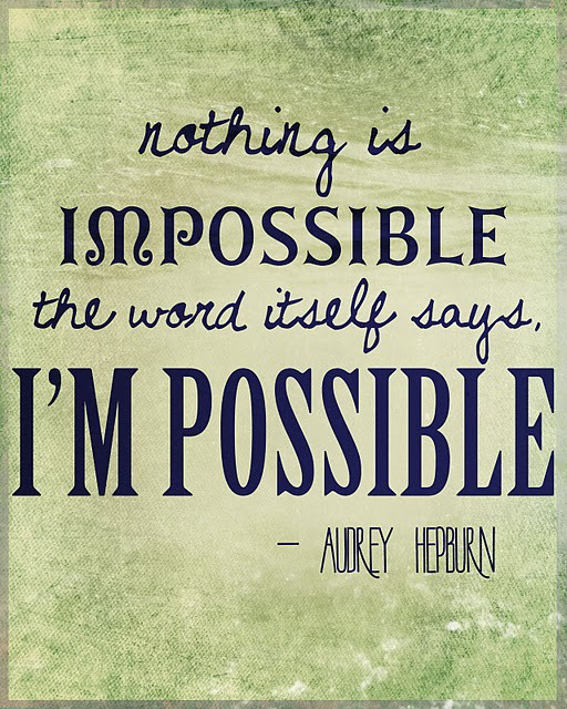 Possible Nothing Is Impossible the Word Itself Says