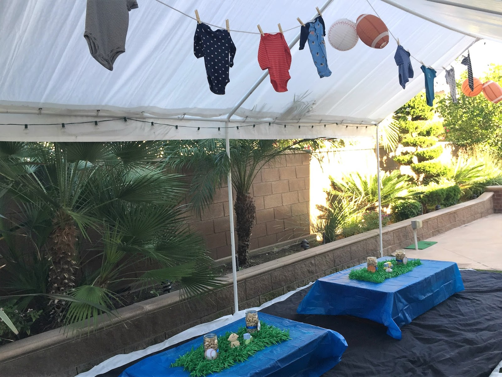 parties on a penny sports themed baby shower
