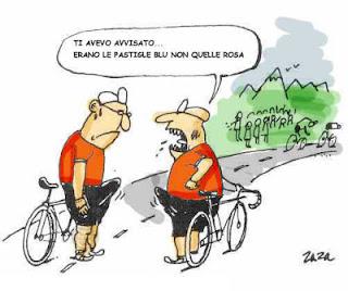doping ciclismo viagra EPO ossigeno globuli rossi schwatzer olimpiadi eritropoietina vignetta fumetto comics cartoon