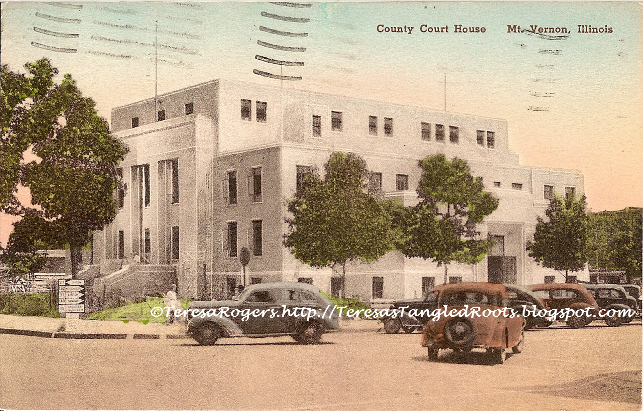 Illinois jefferson county ina - 5th Final Jefferson Co Courthouse Erected 1939 Postmarked 1949