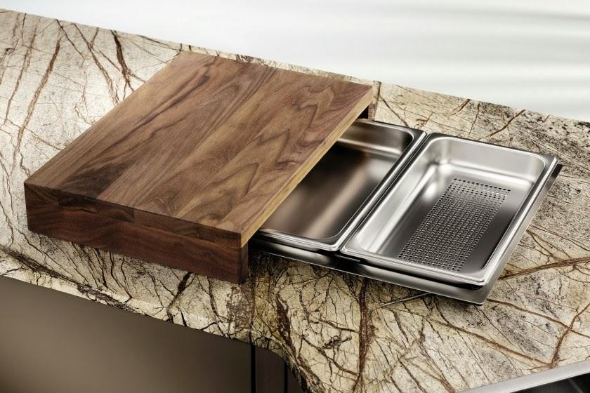 Fregaderos con accesorios cada vez m s funcionales cocinas con estilo - Fregaderos de diseno ...