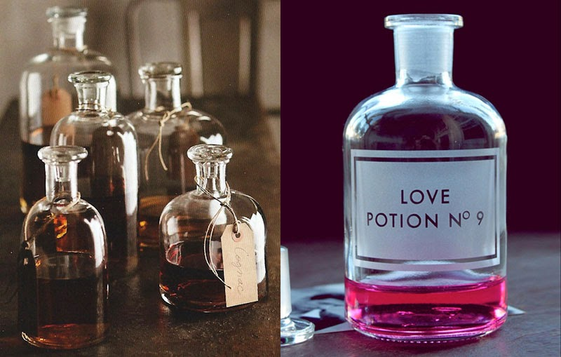 Ideas de cómo decorar con botellas vintage de boticario