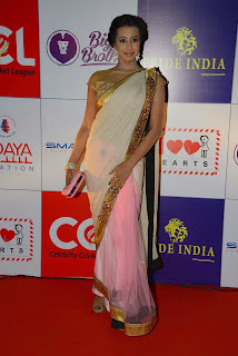 Actress Sanjana Latest Pictures in Saree at CCL Charity Dinner  21