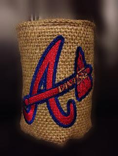 Atlanta Braves MLB Burlap Koozie