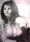 Más dibujos a lápiz grafito. León Faras. quién más que. foto