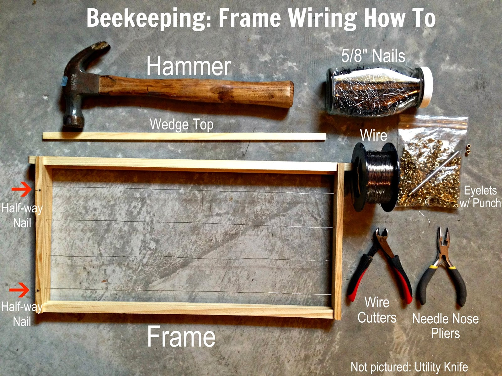 camp bores beekeeping frame wiring how to rh campbores com how to wire a picture frame how to wire a metal picture frame