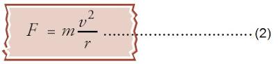 Gaya Coulomb tersebut diimbangi oleh gaya sentripetal