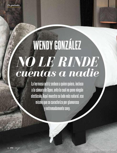 FOTOS: Wendy González Revista Open Junio 2015