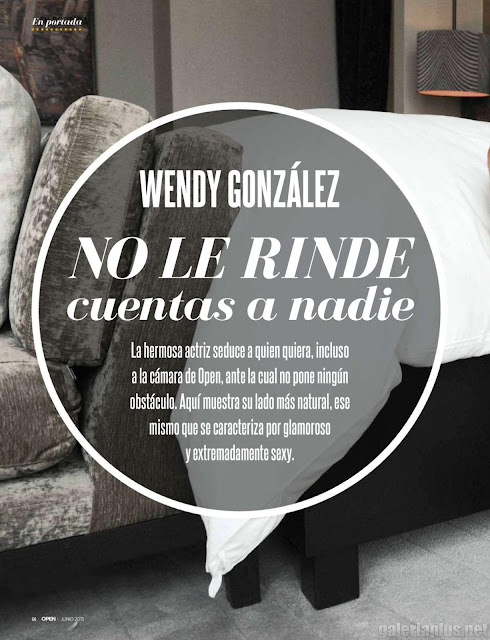 FOTOS: Wendy González Revista Open Junio 2015