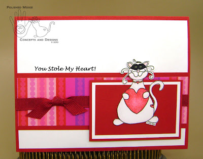 Picture of card front for You Stole My Heart Moxie Card
