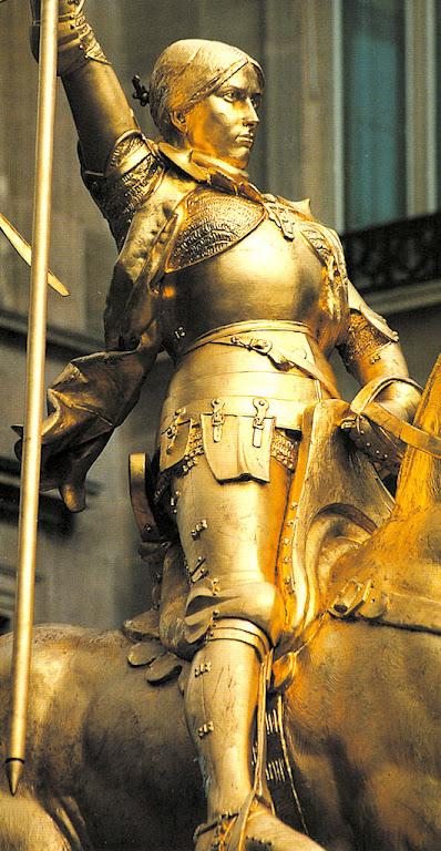 Santa Joana d'Arc, embora mulher, foi uma das mais perfeitas flores da Cavalaria