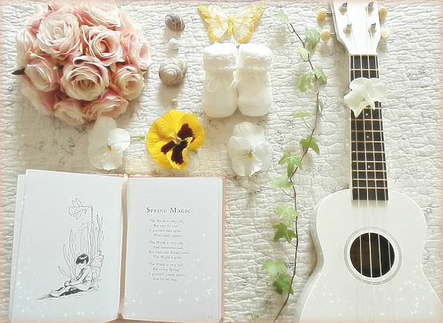 ukulele fiori libri fate nascita baby