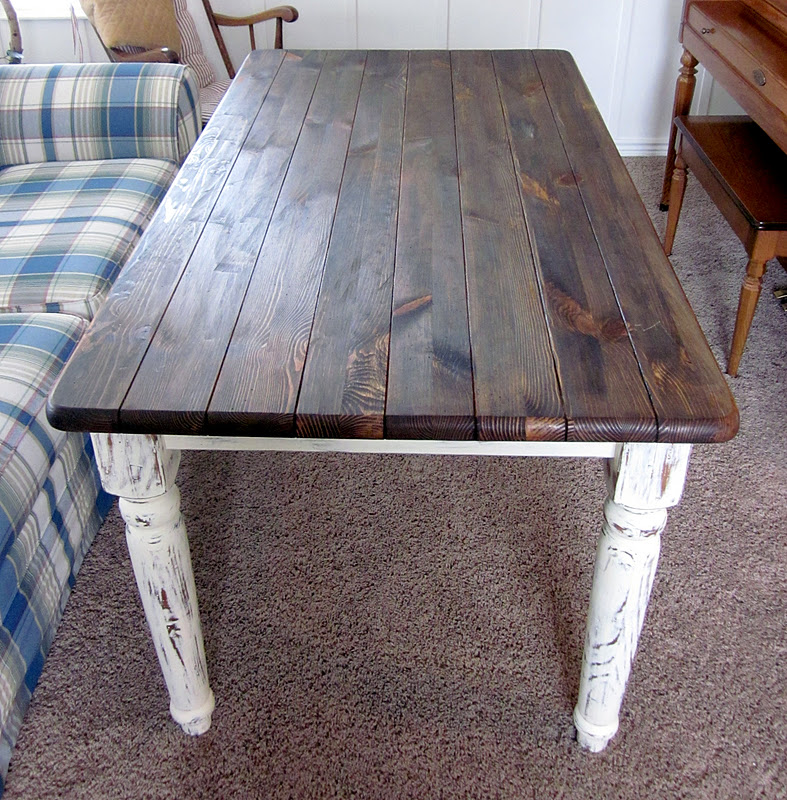 Furniture Refashions Shabby Chic Refinished Dining Table