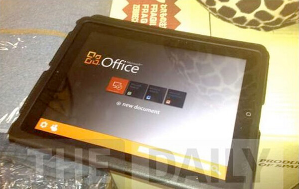 Office in iPad photo leaked from The Daily