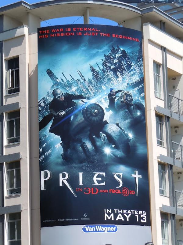 Priest movie bikes billboard