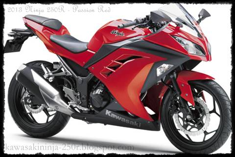 2013 Kawasaki Ninja 250R red color