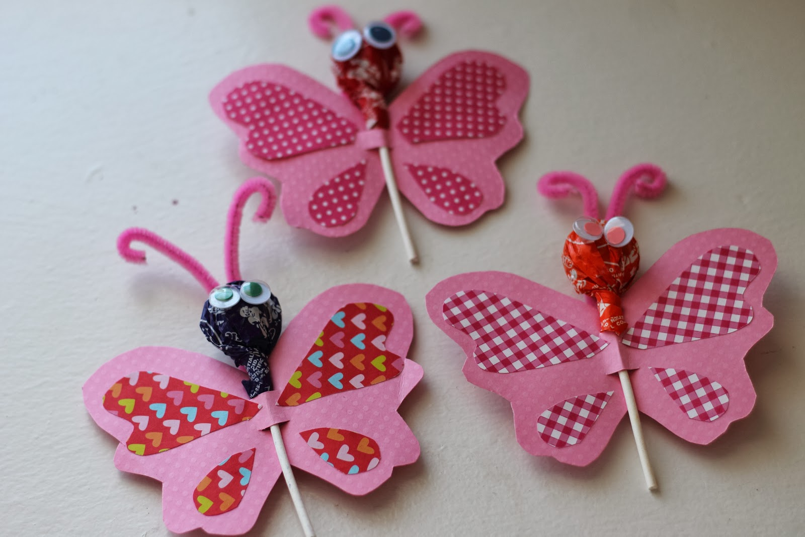 Toddler Valentine Crafts And Butterfly Lollipop Cards