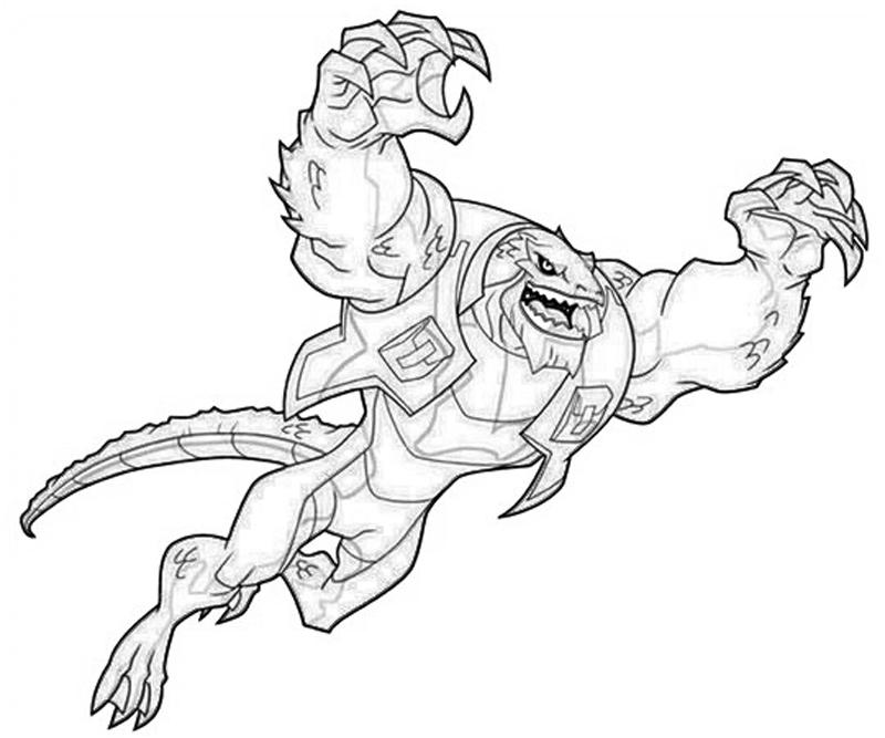 killer croc coloring pages hormallcom - Crocodile Coloring Pages Print