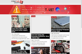 Tampilan internet positif situs kumpulbagi
