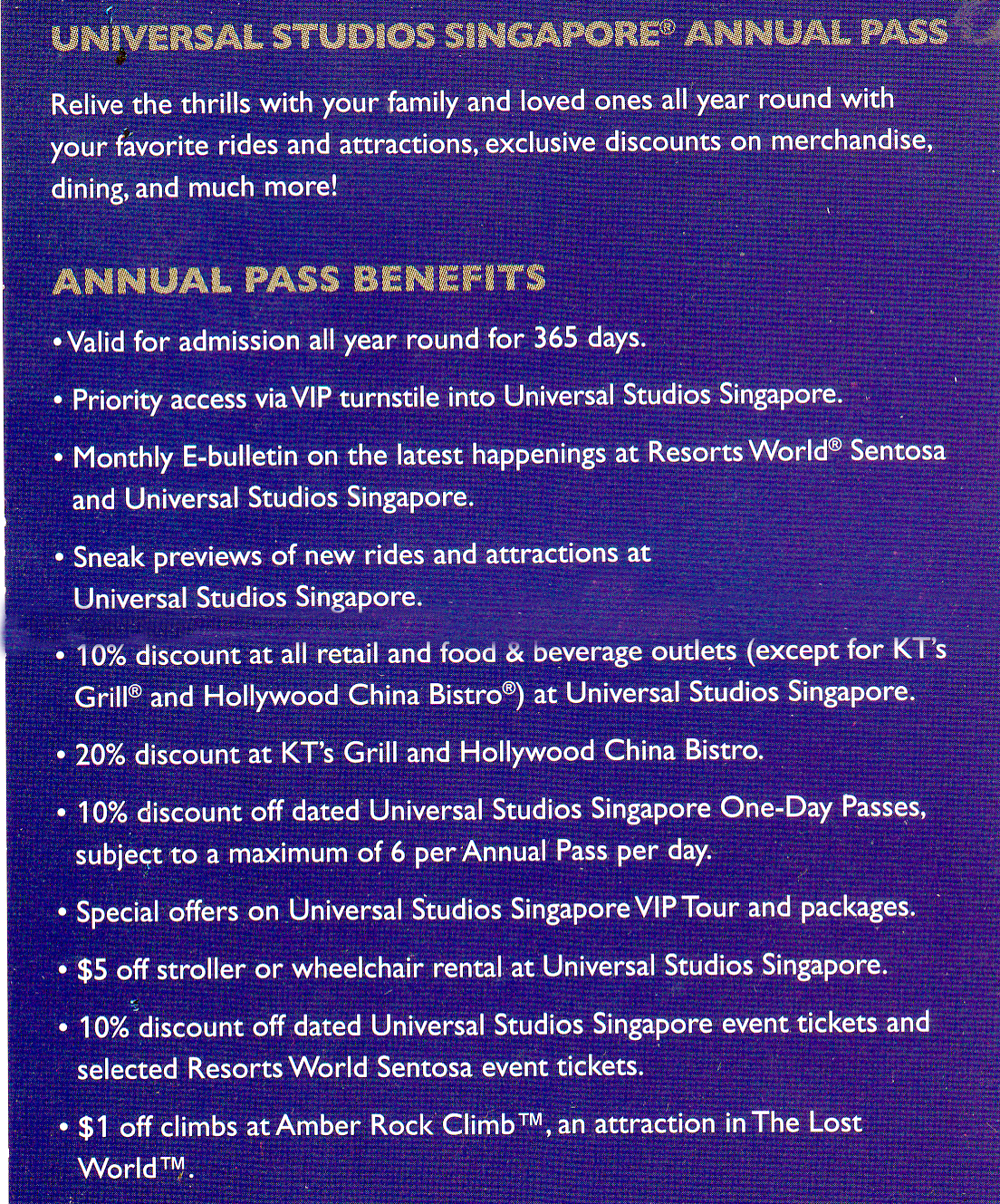 Universal Annual Pass Promo Code - jayslowlemangbud.ga CODES Get Deal Universal Orlando Discounts and Deals - jayslowlemangbud.ga CODES Get Deal Universal Orlando Discounts and Deals. LAST UPDATE: Holders of any Universal Annual Pass, including the Power Annual Pass, get 10% off the gate price of multi-day tickets when purchasing at the front gate.