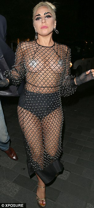 Lady Gaga gets her paps out again - its like a boob